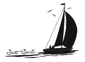 Sticker Set Sail