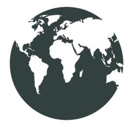 Sticker globe wereldbol kleiner