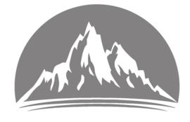 Sticker cirkel met bergen