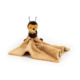 Jellycat little bee knuffeldoekje met naam naar wens