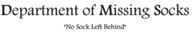 Sticker Department of missing socks
