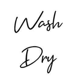 Set van 2 Stickers - Wash & Dry