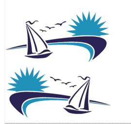 Striping sailing 2 kleuren