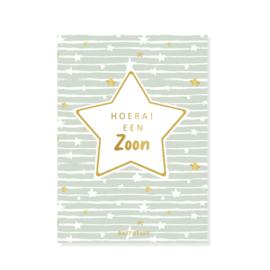 Baby Stars   Stars & Stripes - Hoera! Een zoon - Kaart