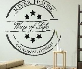 Sticker The River House stempel 30 cm