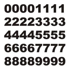 Stickervel met cijfers 0 t/m 9