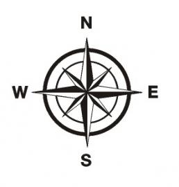 Sticker kompas
