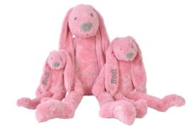 Happy horse geboorteknuffel konijn deep pink 28 cm Zonder / met naam naar wens
