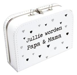 Koffertje - Jullie worden papa en mama