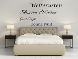 Sticker welterusten in 4 talen