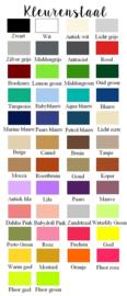 Stickerfolie kleurenstaal