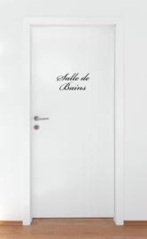 Sticker badkamer Salle de Bains