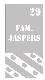 Zandstraal raamsticker Familienaam, huisnummer+ friese vlag