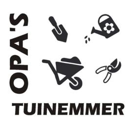 Sticker Opa's tuinemmer