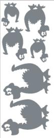 Sticker vel draakjes