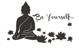 Muursticker Interieursticker Buddha Boeddha be yourself