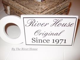 Sticker river house original