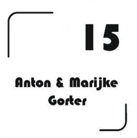 Sticker naam + huisnummer modern