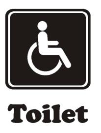 Sticker Toilet gehandicapten