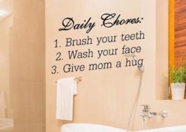 Muursticker Daily chores