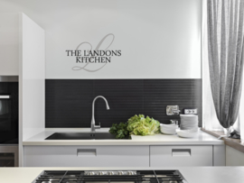 Muursticker : kitchen stijlvol met achternaam
