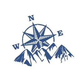 Sticker north west mountains