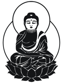 Sticker Buddha lotus