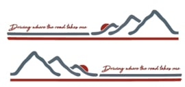 Camper caravan striping stickerset driving where the road