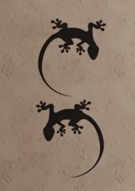 Sticker set 2 gekko s groot