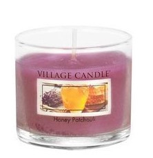 Village Candle Honey Patchouli glass votive