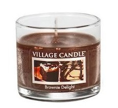 Village Candle Brownie Delight glass votive
