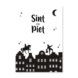 Sinterklaas kaart - Sint & Piet
