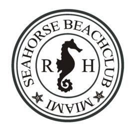 Sticker Seahorse Beach stamp
