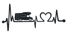 sticker camper heartbeat
