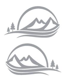 Striping bergen en zon