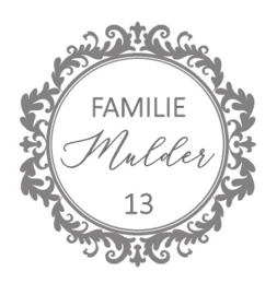 Sticker Familinaam met huisnummer barok