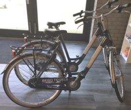 Reclame op fietsen voor bebo parket
