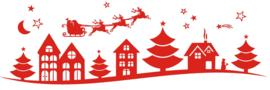 Kerst huisjes rand