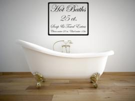 Badkamer sticker Hot Baths