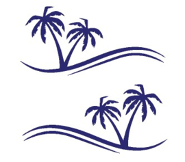 Striping palm trees 1.10 meter
