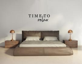 Muursticker - Time to Relax