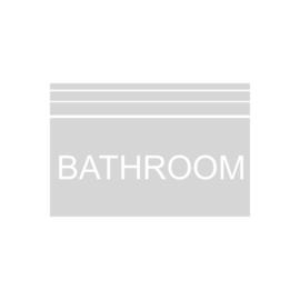 Zandstraal raamsticker Bathroom