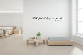 Sticker With God