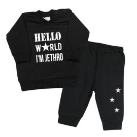 Pyjamaatje Hello world ster.... naam naar wens