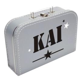 Koffertje 'Naam met stoere sterren'