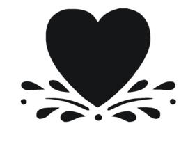 Sticker hart met druppels