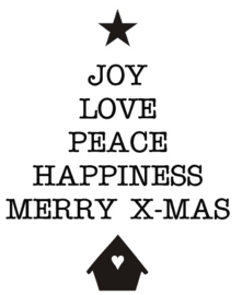 Sticker joy love peace