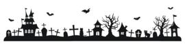 Halloween huisjes rand