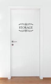 Deursticker : Storage