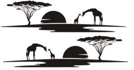 Sticker striping set giraffen savanne